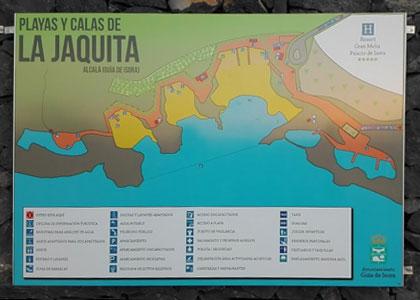План пляжа La Jaquita