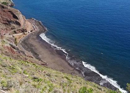 Вид на пляж Charco El Ingles