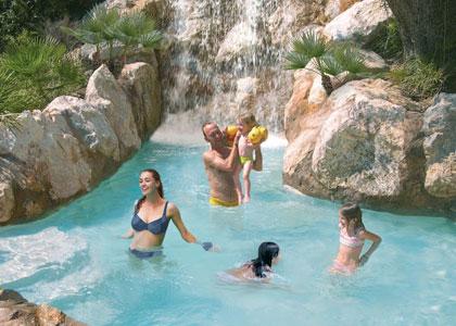 Водопад в парке Галатцо