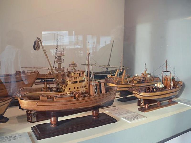 Экспонаты музея моря