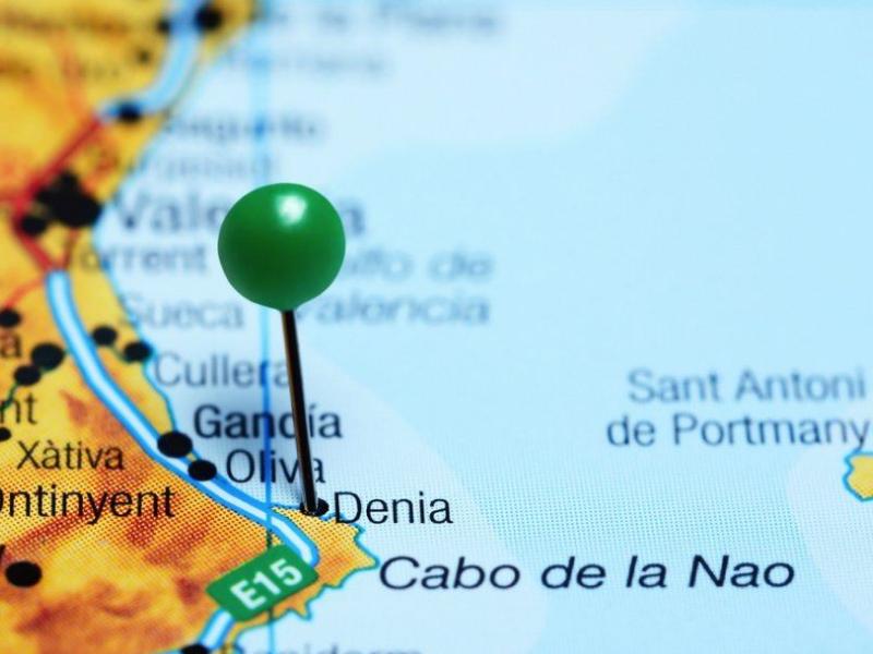 Дения на карте