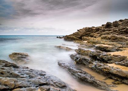 На пляже Кала-Мескида