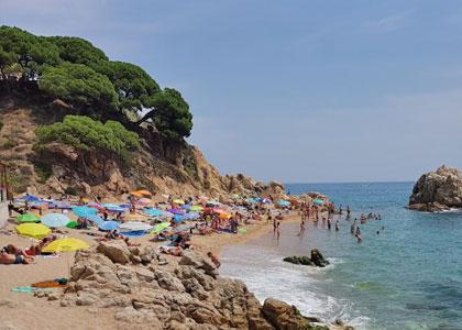 Отдыхающие на пляже Рока-Гросса