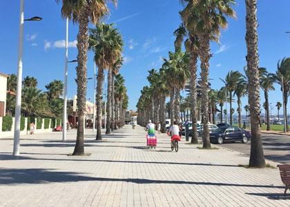 Променад около пляжа Ла Пинеда