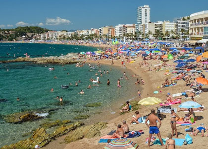 Вид на пляж Lloret de Mar