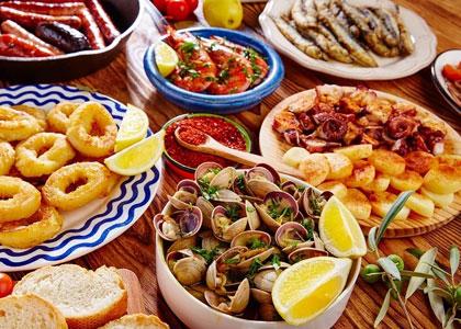 Блюда испанской кухни в Барселоне
