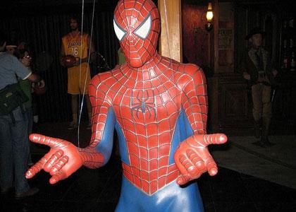 Человек-паук в музее восковых фигур