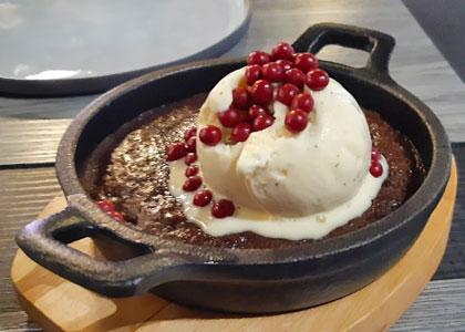 Десерт в ресторане Etereo by Pedro Nel