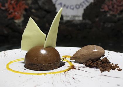 Десерт в ресторане La Langostera