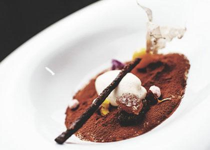 Десерт в ресторане Sucas
