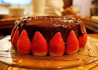 Десерт в ресторане Tijl