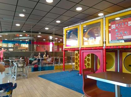 Игровая комната в кафе