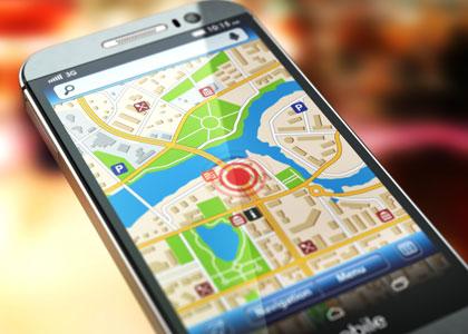 Карта местности на телефоне
