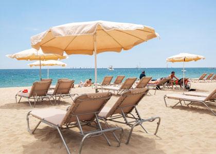 Места для отдыха на пляже Богатель