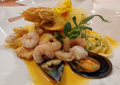 Морепродукты в ресторане Casa Tagoro