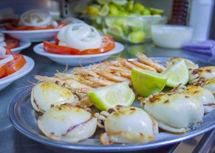 Морепродукты в ресторане El Cine