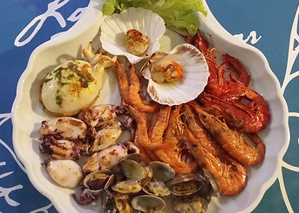 Морепродукты в ресторане La Taberna del Mar