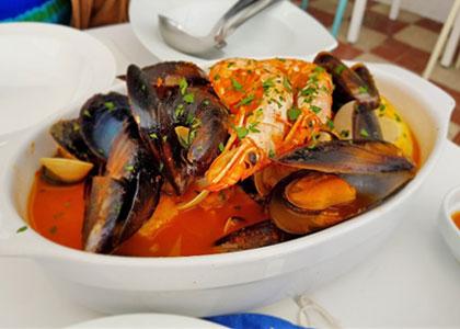 Морепродукты в ресторане Tambo