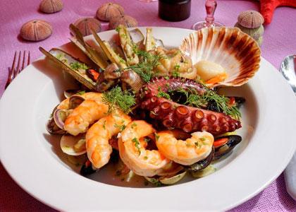 Морепродукты в ресторане Tijl