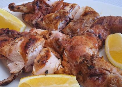 Мясо в ресторане La-Roca