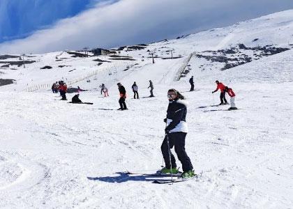 На горнолыжном спуске Сьерра-Невада