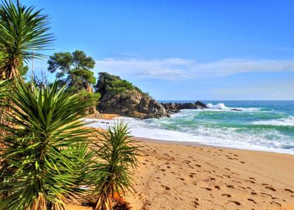 На пляже Санта-Кристина