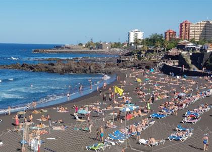 На пляже в Пуэрто-де-ла-Крус