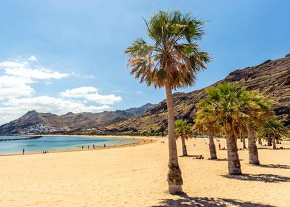 Песчаный пляж на Тенерифе