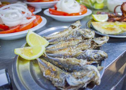 Рыба в ресторане El Cine