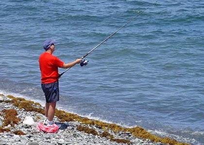 Рыбалка на Тенерифе с берега