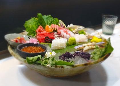 Рыбный сет в ресторане Abama Kabuki