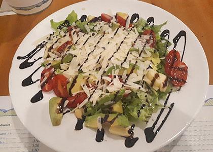 Салат в ресторане El Limon