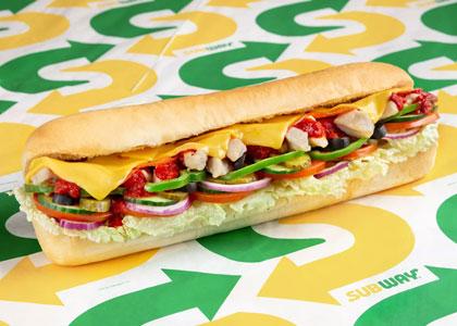 Сендвич с сыром из Subway
