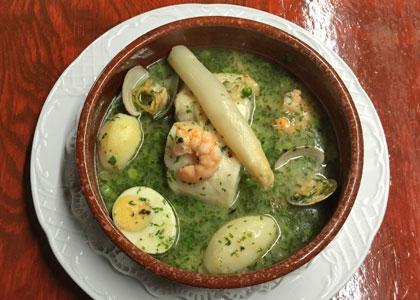 Суп с морепродуктами в ресторане La Fresquera