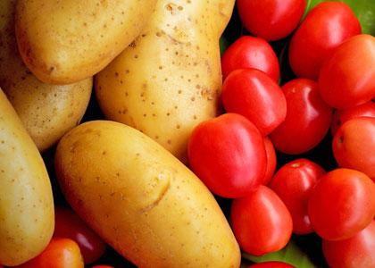 Томаты и картофель