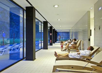 В бассейне Hotel Balneario Elgorriaga