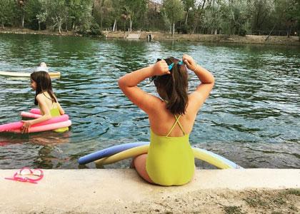 В открытом бассейне Relais Termal Balnearios