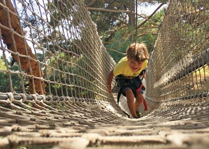 В веревочном парке De Pino a Pino