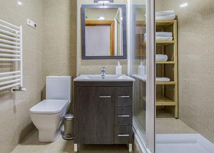 Ванная в Mola Suites
