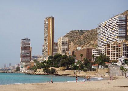 Вид на пляж Альбуферета