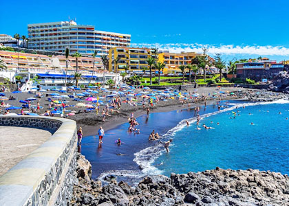 Вид на пляж Плайя-де-ла-Арена