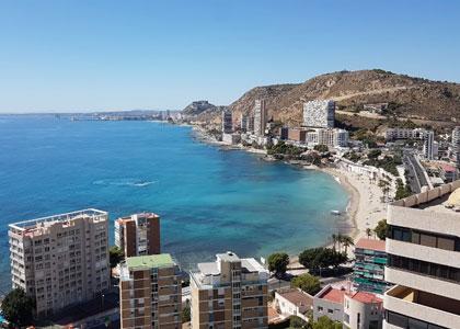 Вид на пляже Альбуферета