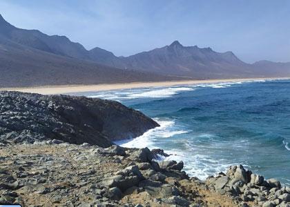 Вид на пляже Кофете