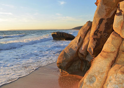 Вид пляжа Захара-де-лос-Атунес