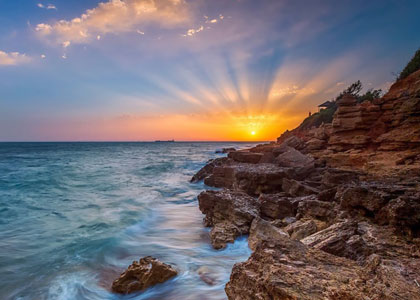 Закат на пляже Барроса