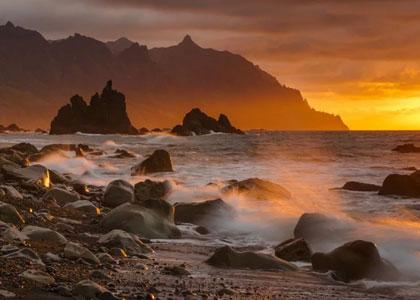 Закат на пляже Бенихо