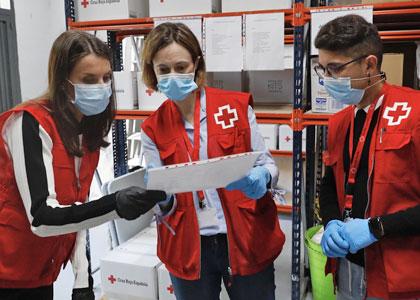 Волонтеры Красного креста