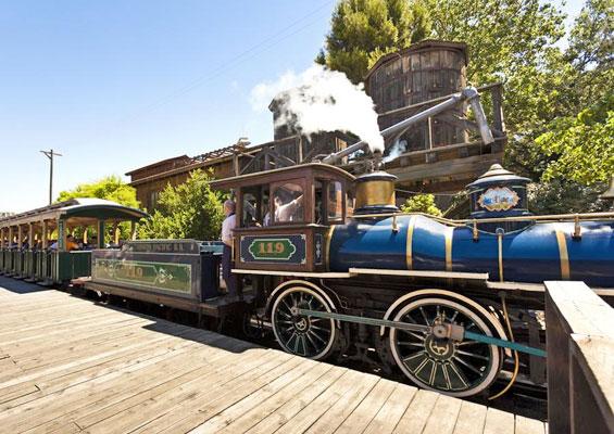 Аттракцион Поезд в зоне Дикий запад в Port Aventura
