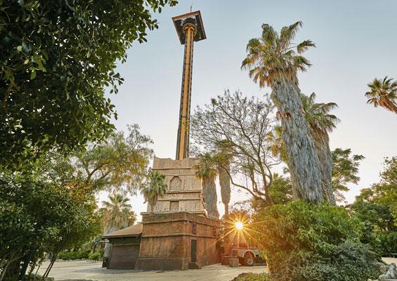 Башня в зоне Мексика в Port Aventura