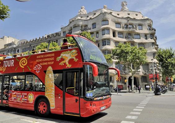 Экскурсионный автобус в Испании